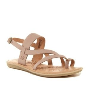 NEW Born Favignana Leather Sandal Tan Strappy